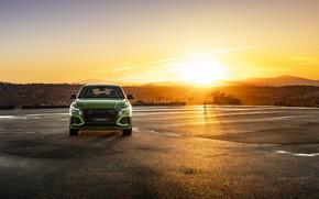 Картинка закат, Audi, вид спереди, кроссовер, 2020, RS Q8
