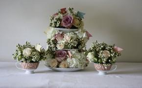 Картинка цветы, розы, Букеты