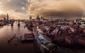 Картинка город, река, Лондон