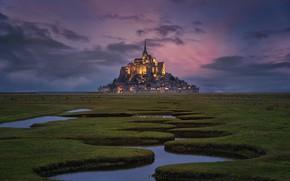 Картинка крепость, fortress, Мон-Сен-Мишель, Mont Saint-Michel, Antoni Figueras