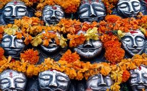 Картинка маски, индуизм, Дашара, Виджаядашами