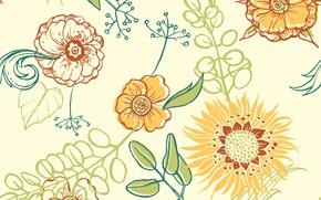 Картинка фон, текстура, pattern, Floral