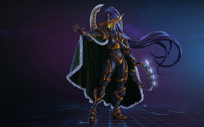 Обои Fantasy, Warcraft, Art, Night Elf, Concept Art, Elf, Characters, Maiev, Maiev Shadowsong, by Kazbek Dzasezhev, ...