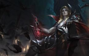 Картинка фэнтези, арт, трон, XiaoGuang Sun, Legend of Ace - Bloody Baron_Mogura