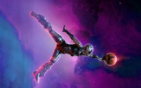 Картинка космос, поза, шар, звёзды, Celestial Traveler