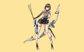 Картинка Girl, Sexy, Art, Minimalism, Characters, Ren Wei Pan, Archer09, Cyborg Hunter
