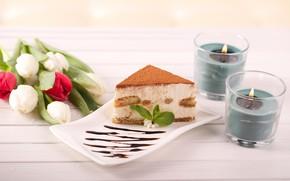 Картинка букет, тарелка, пирожное, десерт