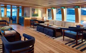 Картинка интерьер, яхта, салон, superyacht, main salon