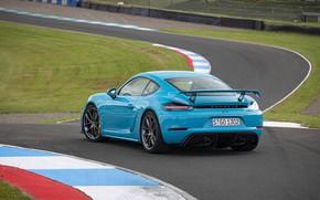 Картинка Porsche, Cayman, Трасса, GT4, Антикрыло, 2019, Porsche 718 (982) Cayman GT4