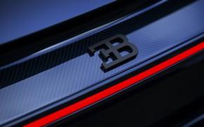 Картинка логотип, Bugatti, суперкар, эмблема, Sport, гиперкар, Chiron, 2019, 110 ans Bugatti