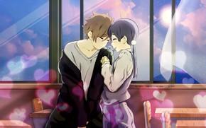 Картинка девушка, романтика, аниме, арт, парень, Tamako Market