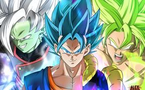 Картинка коллаж, парни, Dragon Ball
