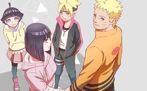 Картинка семья, Наруто, Naruto, Узумаки Наруто, Хината Хьюго, Boruto, Боруто, Химавари, Узумаки Боруто