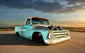 Картинка Chevrolet, Truck, Custom, C10