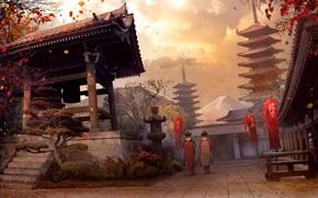 Картинка япония, Vladimir Manyukhin, concept fan art, Assassin s creed - Japan