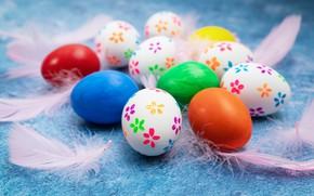 Картинка перо, праздник, яйца, весна, пасха
