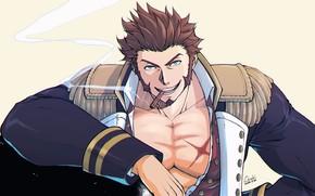 Картинка взгляд, мужчина, Fate / Grand Order, Судьба великая кампания