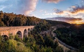 Обои Clarence, Lithgow, Zig Zag Viaduct, New South Wales