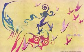 Картинка бабочки, фон, Bleach, Блич