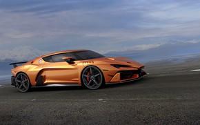 Картинка оранжевый, суперкар, V10, ItalDesign, 2017, Zerouno, 5.2 л.