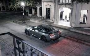 Картинка Авто, Город, Машина, Серый, Car, Автомобиль, Render, R35, Рендеринг, Nissan GT-R, Спорткар, Серый цвет, Nissan …