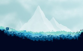 Картинка Гора, Лес, Вышки