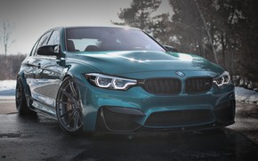 Картинка BMW, Light, Blue, Snow, F80, Adaptive LED