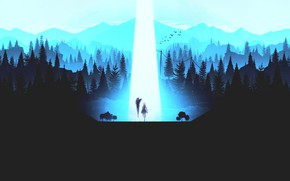 Картинка лес, свет, ночь, Mobile Legends