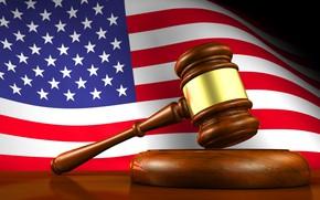 Картинка флаг, молоток, америка, america, usa, fon, flag, суд, court