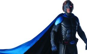 Картинка маска, герой, костюм, пояс, плащ, красный глаз, найтмен, Nightman, Matt McColm, Мэтт МакКолм, сериал 90-х