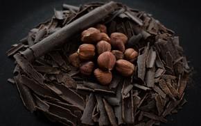 Картинка еда, шоколад, орехи