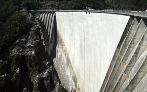 Картинка конструкция, плотина, Switzerland, Locarno, 220 метровая плотина Verzasca Dam