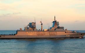 Картинка германия, фрегат, балтика, вмс