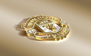 Картинка Logo, Golden, Football, Manchester United, Soccer, Silver, Emblem, English Club