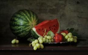 Картинка ягоды, арбуз, натюрморт