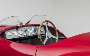Картинка Ключ, Салон, Ferrari, Classic, Руль, 1947, Classic car, Sports car, Спортивный автомобиль, Ferrari 125 Sport