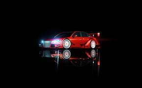 Картинка Audi, Минимализм, Ауди, Машина, Фон, Audi A4, Transport & Vehicles, by Nicolas Fauvel, Nicolas Fauvel, ...