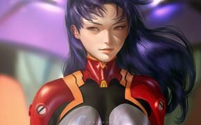 Картинка девушка, Евангелион, Evangelion, Misato Katsuragi