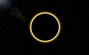 Картинка солнце, космос, звезды, затмение, диск