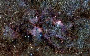 Картинка Nebula, NGC 6357, Constellation of Scorpius, VISTA telescope, Gas Clouds, The Vía Láctea survey, The …