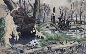 Картинка 1918, Charles Ephraim Burchfield, Swamp in Spring
