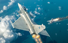Картинка четвёртого поколения, Dassault Rafale, ВВС Франции, французский многоцелевой истребитель, Antonis (rOEN911) Karidis
