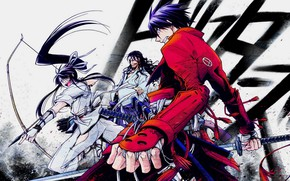 Картинка оружие, аниме, арт, манга, самураи, Drifters