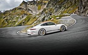 Картинка 911, Porsche, вид сзади, Coupe