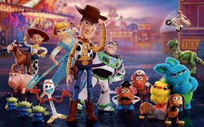 Картинка игрушки, семья, друзья, Toy Story 4, История игрушек 4