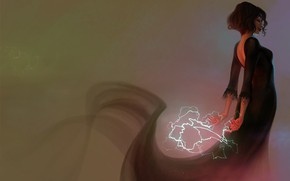 Картинка девушка, магия, молния