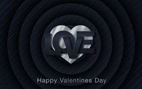 Картинка любовь, синий, абстракция, надпись, сердце, love, день валентина, hearts