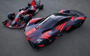 Картинка Aston Martin, болид, трек, Formula 1, гиперкар, Valkyrie, Red Bull Racing