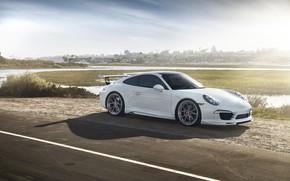 Картинка 911, Porsche, White, VAG, Carrera 4S