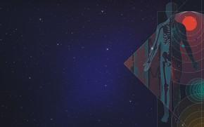 Картинка Звезды, Человек, Космос, Тело, Схема, Daniel Simmonds, by Daniel Simmonds, Your body and the universe
